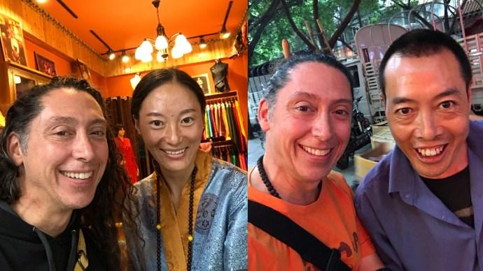 Chengdu, China, Tibetan Business District, Homeless, Beggars, Shopping, Tibet
