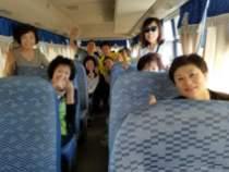 선교버스에서 한컷!