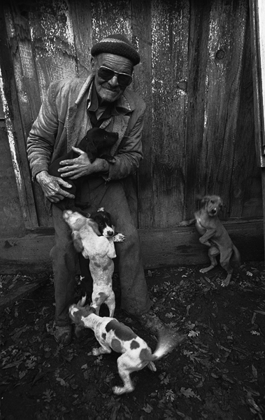 It was a cold November morning and he loved his dogs.