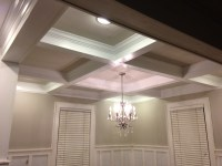 Coffered Ceiling & Wainscoting | One Home Made