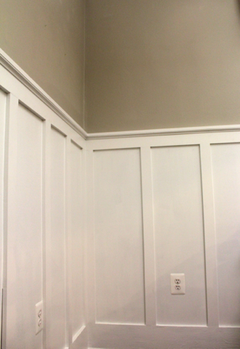 Coffered Ceiling  Wainscoting  One Home Made