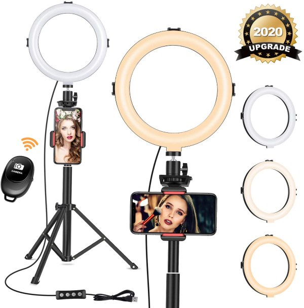 "8"" Ring Light with Tripod Stand"