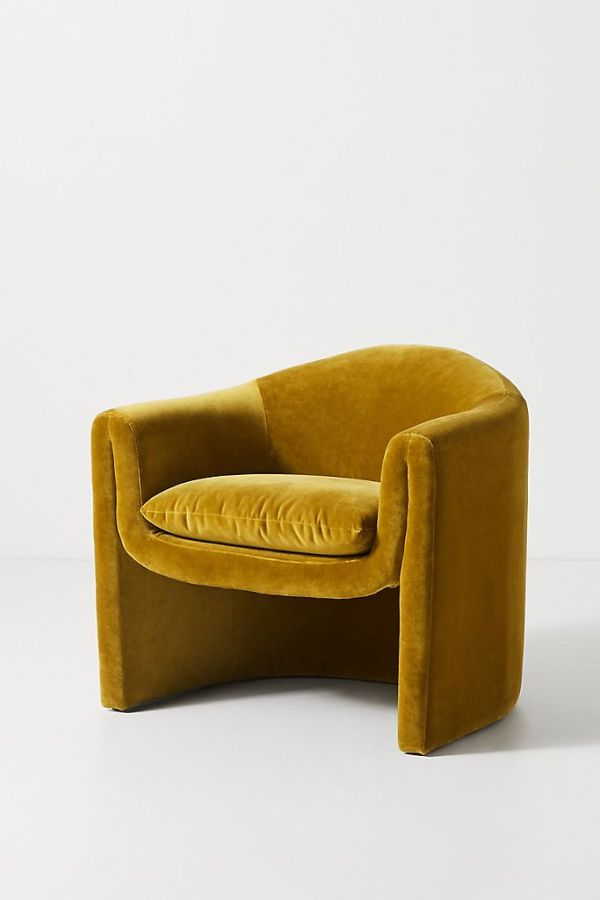 Velvet Sculptural Chair