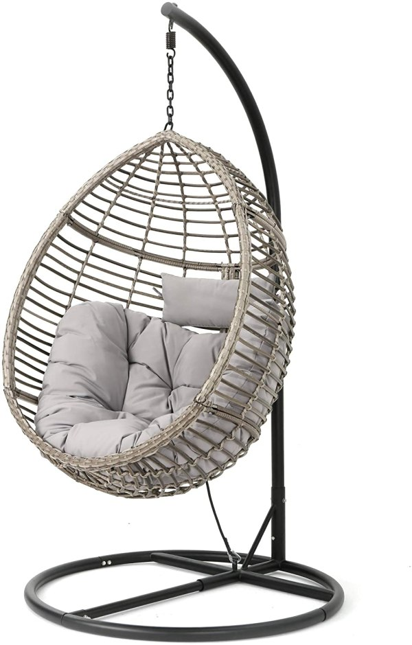 Christopher Knight Outdoor Wicker Hanging Basket Chair