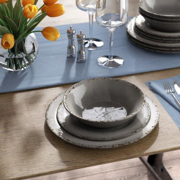 Cogswell Mauna Crackle 12 Piece Melamine Dinnerware Set