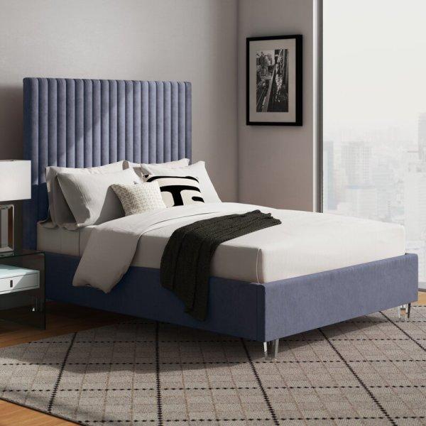 Kyra+Upholstered+Platform+Bed
