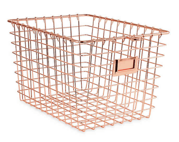 Spectrum Small Metal Storage Basket