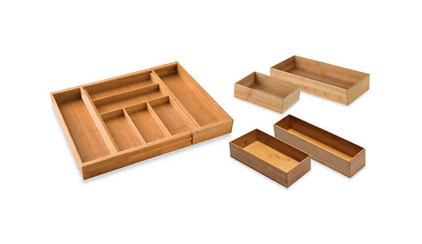 Bamboo Drawer Organization Collection