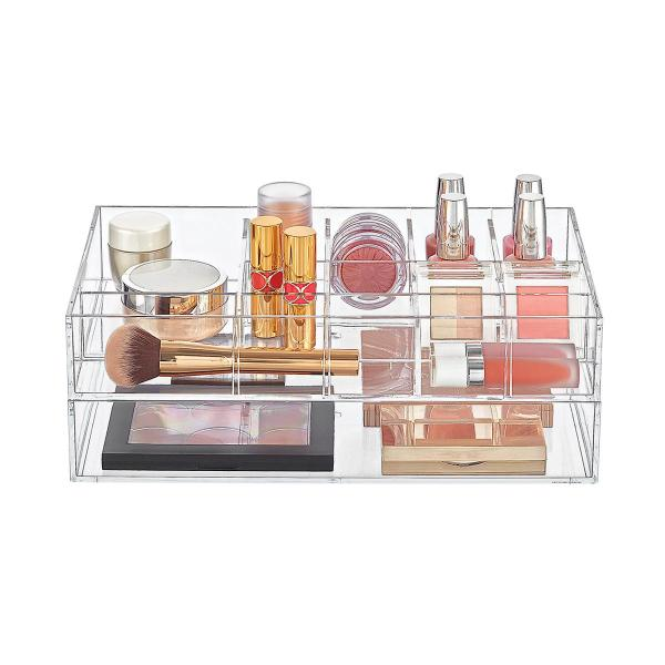 Clear Acrylic Makeup & Nail Polish Storage Kit