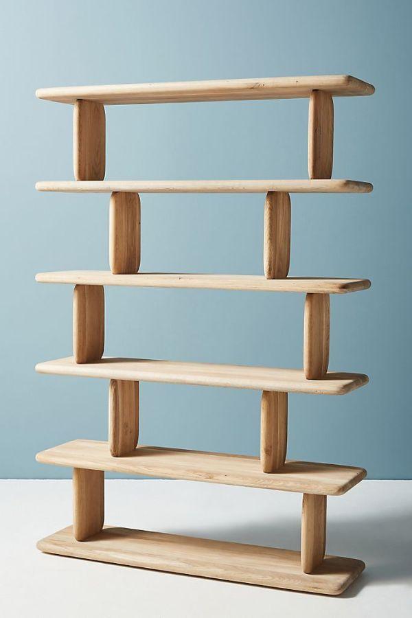 Kalle Sculptural Oak Bookshelf