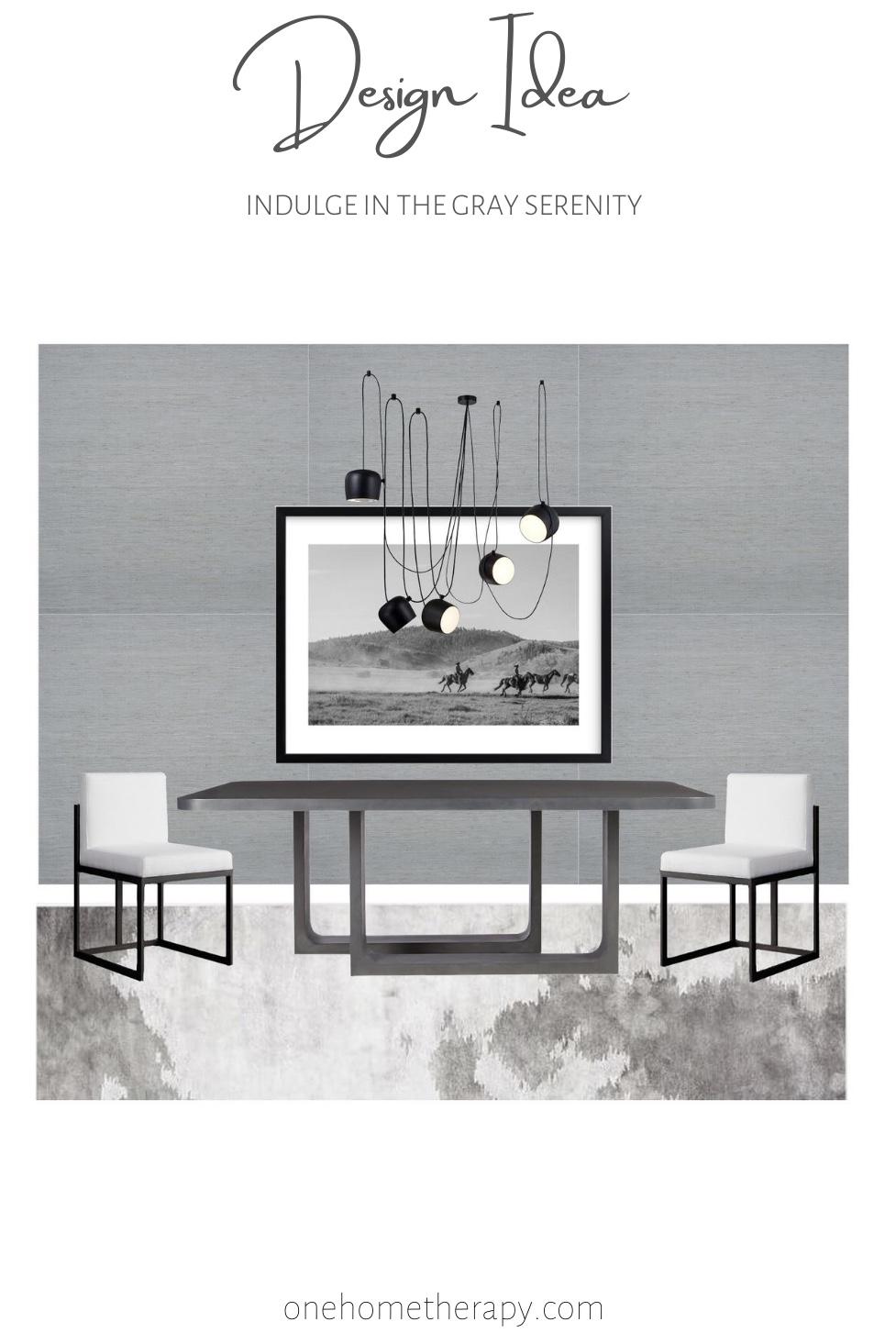 Design Ideas - Modern Gray Dining Room