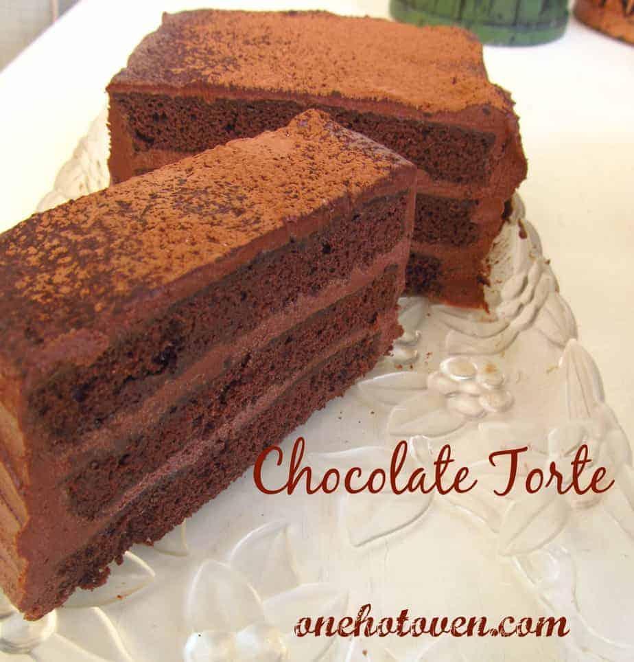 Chocolate Torte Cake - One Hot Oven