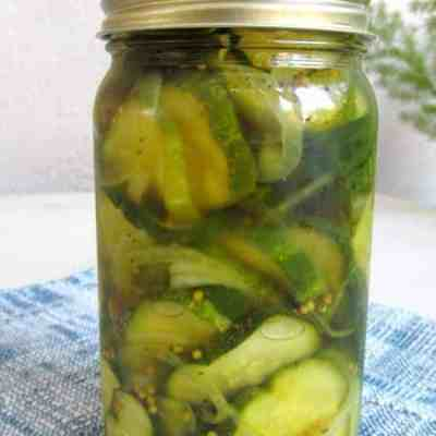 Crispy Sweet Bread and Butter Pickles