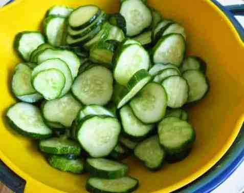 Rinsing-cucumbers