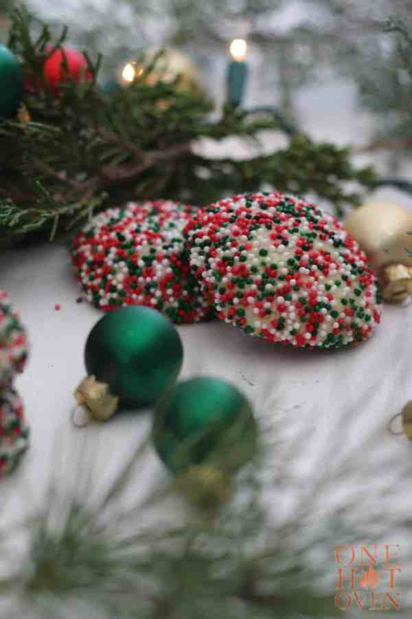 Sprinkled cookies