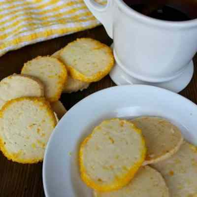 Crispy Lemon Shortbread Slices