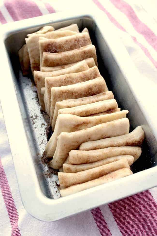 sliced dough