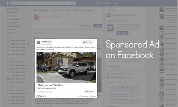 Sponsored Ad on Facebook