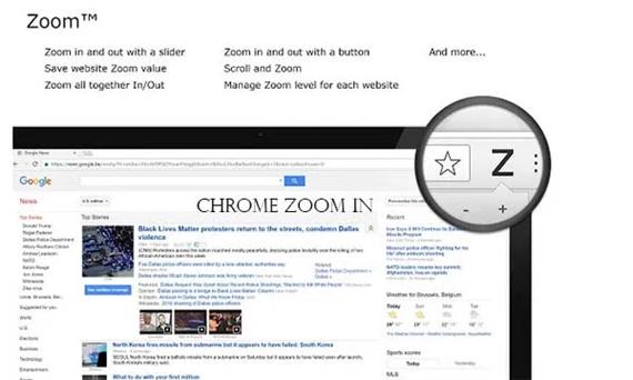 Chrome Zoom In