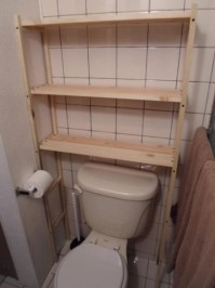 DIY Over the Toilet Shelving Unit - One House One Couple