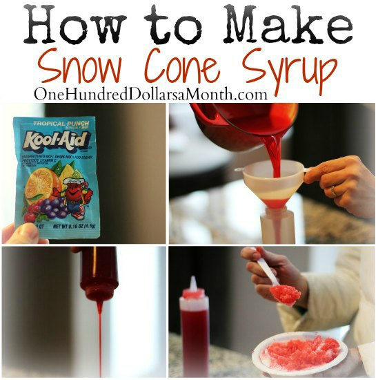Shaved ice syrup recipe
