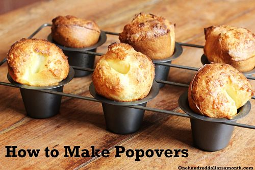 recipe how to make popovers