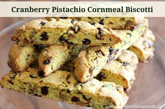 recipe cranberry pistachio cornmeal biscotti