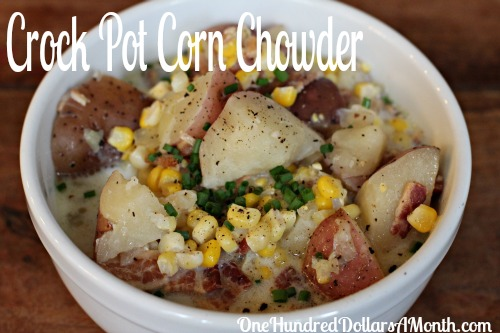 Easy Crock Pot Meals  Corn Chowder