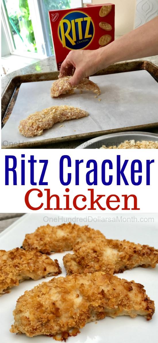 Easy Chicken Recipes Ritz Cracker Chicken One Hundred Dollars A Month