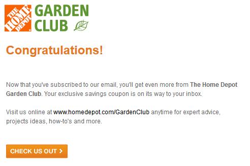 holy crap - Home Depot Garden Club