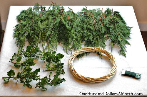 How To Make A Christmas Wreath - One Hundred Dollars a Month