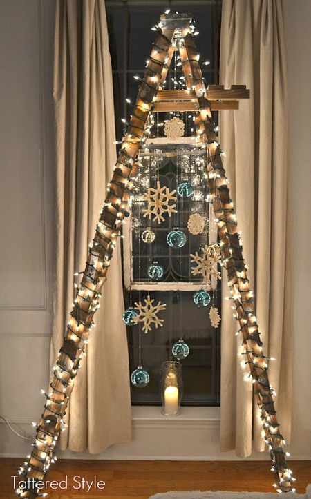 cool unique christmas trees ladder - Unique Christmas Trees