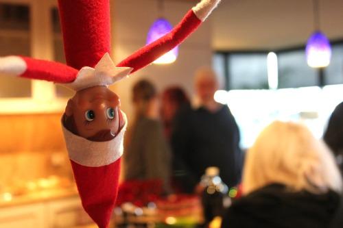 elf on the shelf upside down