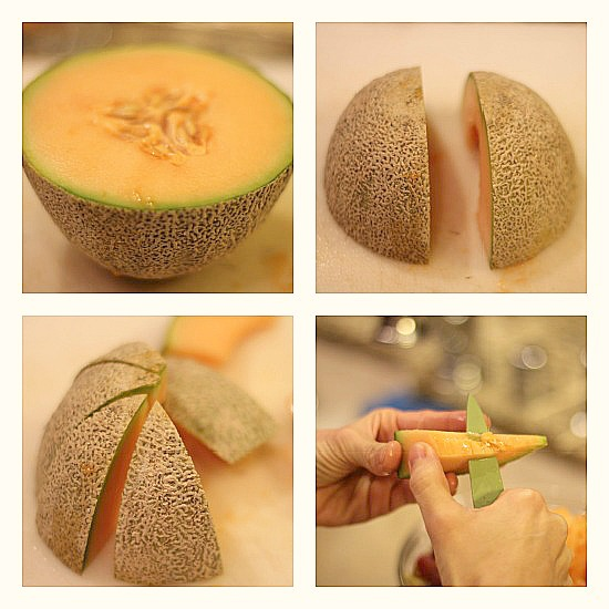 how to cut cantaloupe