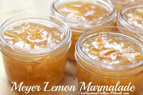 recipe meyer lemon marmalade recipe