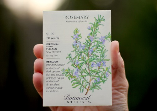 rosemary seed packet botanical interets