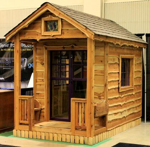 wood cottage potting shed
