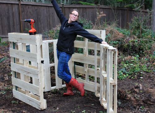 Diy How To Build A Compost Bin Out Of Wood Pallets One
