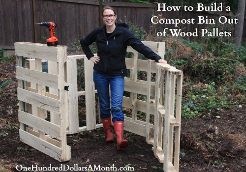 How to Build a Compost Bin Out of Wood Pallets