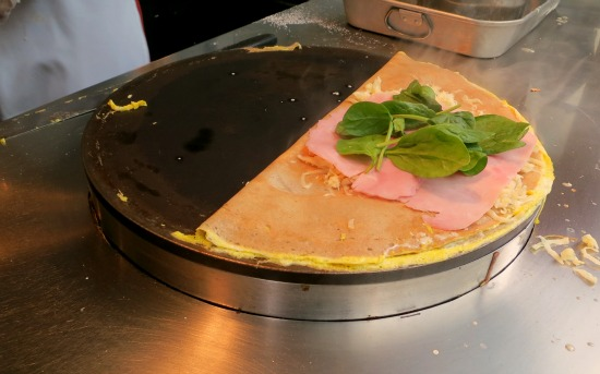 Savory Crepes with Ham, Spinach and Egg 6