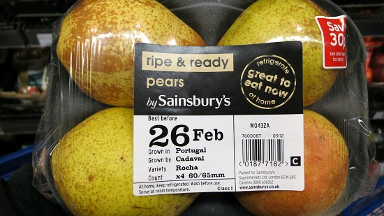 pears in package