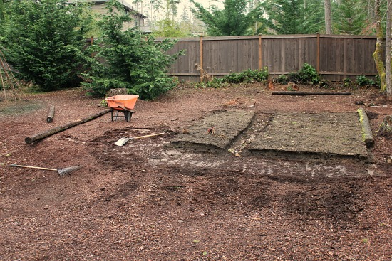 raised garden bed logs