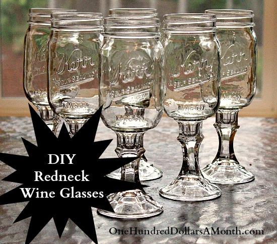 DIY Redneck wine glasses