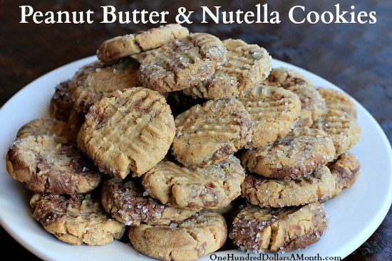 Peanut Butter and Nutella Cookies