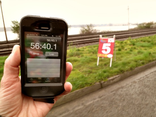 mile 5 race marker