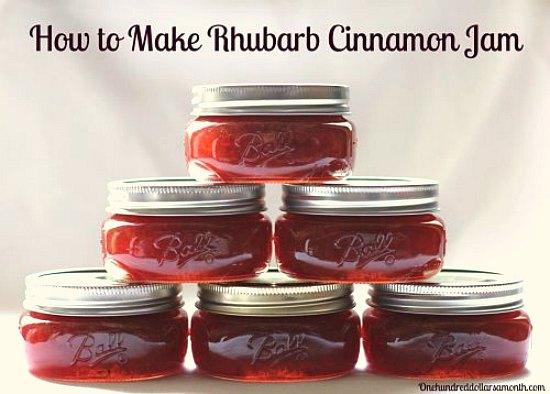 rhubarb cinnamon jam