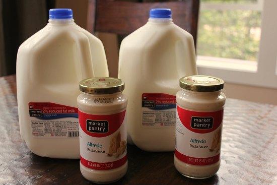 target milk market pantry alfredo sauce