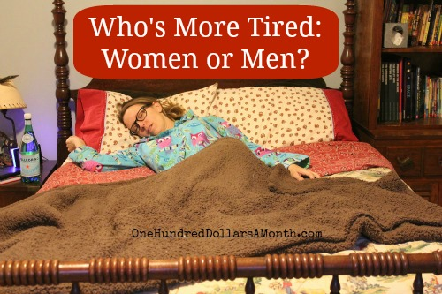 who's more tired  women or men