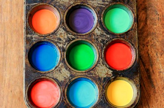 DIY Sidewalk chalk paint for kids