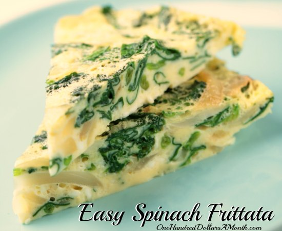 Easy Spinach Frittata